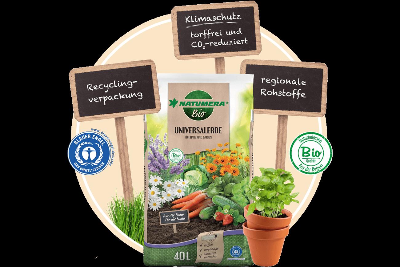 Nachhaltig gärtnern mit torffreier Erde