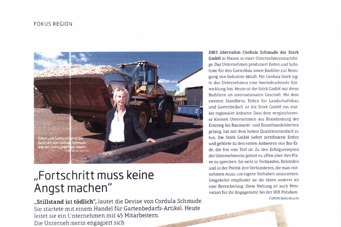 """Beitrag im Brandenburger Wirtschaftsmagazin """"Forum"""""""